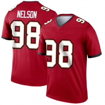 Men's Anthony Nelson Tampa Bay Buccaneers Nike Legend Jersey - Red