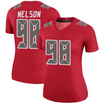 Women's Anthony Nelson Tampa Bay Buccaneers Nike Legend Color Rush Jersey - Red